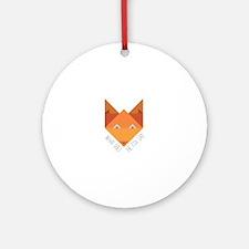 Fox Say Ornament (Round)