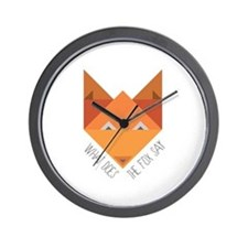 Fox Say Wall Clock