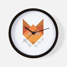 Fox Say Wall Clock