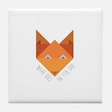 Fox Say Tile Coaster