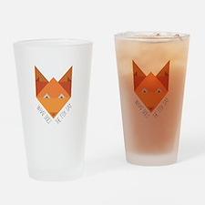 Fox Say Drinking Glass