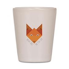 Fox Say Shot Glass