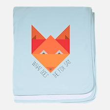Fox Say baby blanket