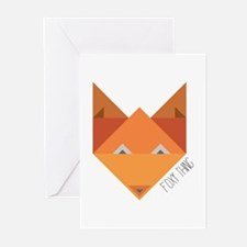 Foxy Thing Greeting Cards