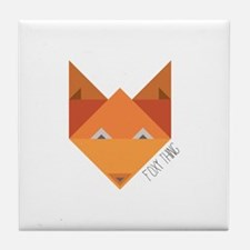 Foxy Thing Tile Coaster