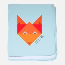 Foxy Thing baby blanket