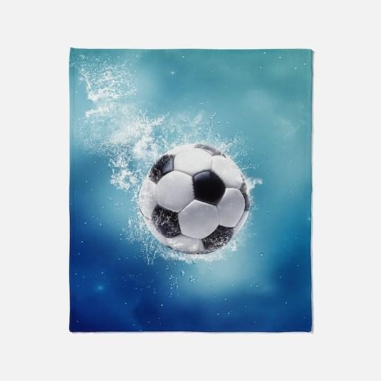 Soccer Water Splash Throw Blanket