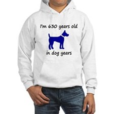 90 dog years blue dog 1 Hoodie