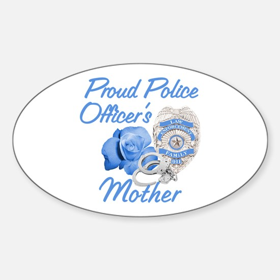 Blue Rose Police Mother Oval Decal