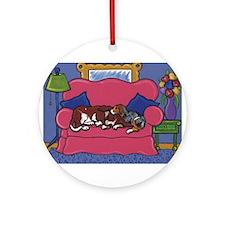 Bassets Make Good Pillows Ornament (Round)
