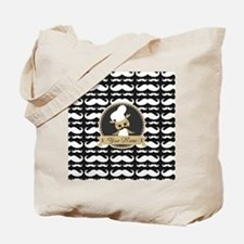 Whimsical Owl Chef Musctache Personalized Tote Bag
