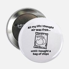 "All My Life I Thought Air Was Free 2.25"" Button (1"