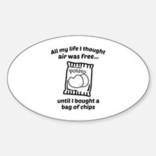All My Life I Thought Air Was Free Sticker (Oval)