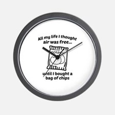 All My Life I Thought Air Was Free Wall Clock