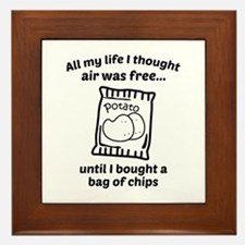 All My Life I Thought Air Was Free Framed Tile