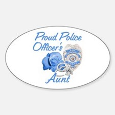 Blue Rose Police Aunt Oval Decal