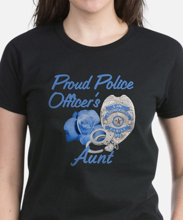 Blue Rose Police Aunt Women's Dark T-Shirt