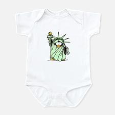 Statue of Liberty Penguin Infant Bodysuit