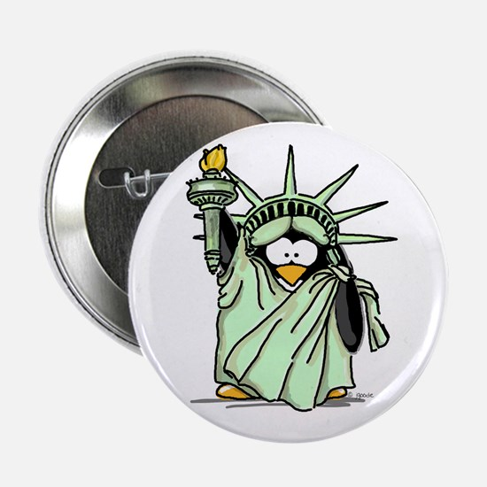 Statue of Liberty Penguin Button