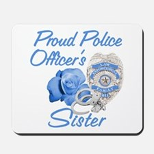 Blue Rose Police Sister Mousepad