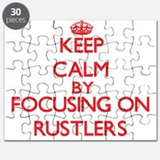 Keep Calm by focusing on Rustlers Puzzle
