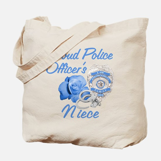 Blue Rose Police Niece Tote Bag