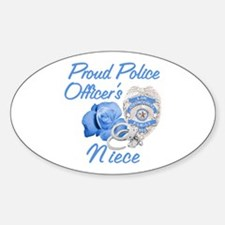 Blue Rose Police Niece Oval Decal