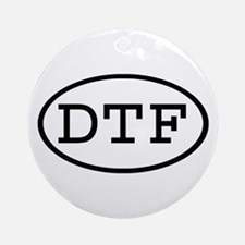 DTF Oval Ornament (Round)