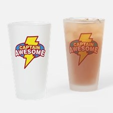 captawesome.png Drinking Glass