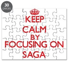 Keep Calm by focusing on Saga Puzzle