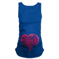 Valentine Baby Heart - Revised Maternity Tank Top