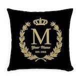 Monogram Woven Pillows