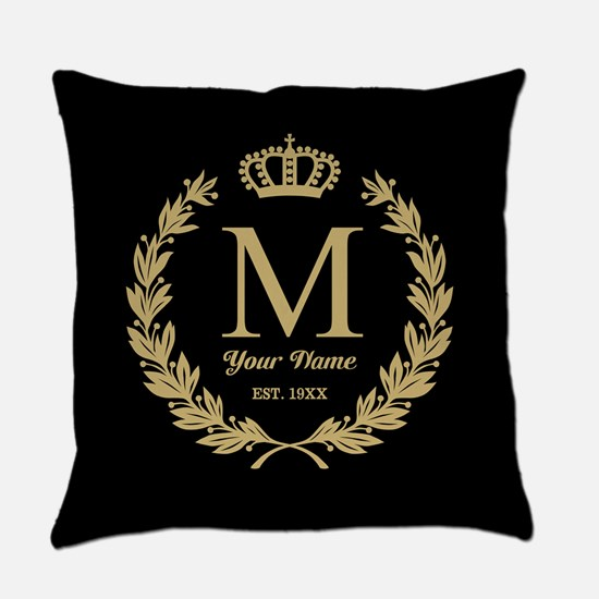Monogrammed Wreath Crown Master Pillow