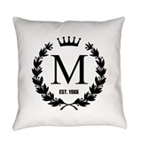 Monogram Burlap Pillows