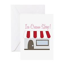 Ice Cream Shop Greeting Cards