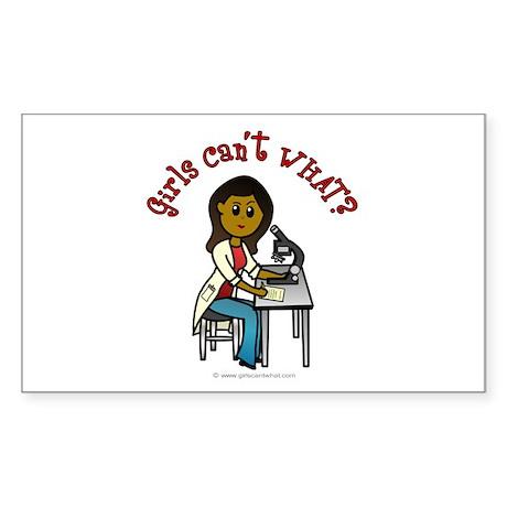 Dark Scientist Rectangle Sticker