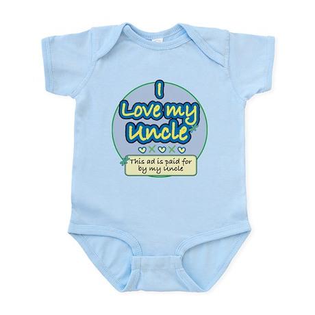 I Love My Uncle - Blue Infant Bodysuit