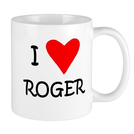 I Love Roger Tennis Mug