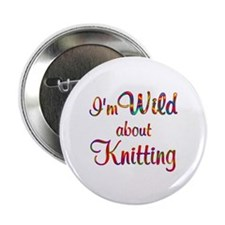 """Wild About Knitting 2.25"""" Button"""