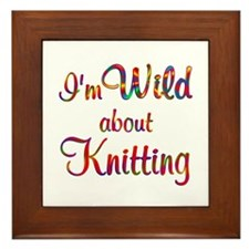 Wild About Knitting Framed Tile