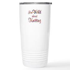 Wild About Knitting Travel Mug