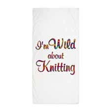 Wild About Knitting Beach Towel