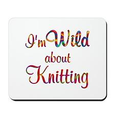 Wild About Knitting Mousepad