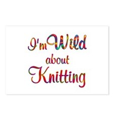 Wild About Knitting Postcards (Package of 8)
