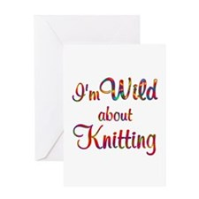 Wild About Knitting Greeting Card