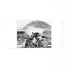iwo jima Aluminum License Plate