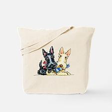 Scottie Gingham Cuties Tote Bag