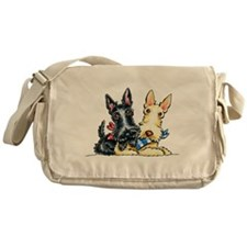 Scottie Gingham Cuties Messenger Bag