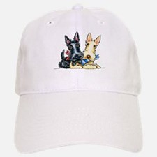 Scottie Gingham Cuties Baseball Baseball Baseball Cap