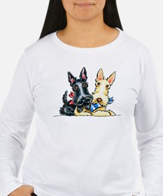Scottie Gingham Cuties Long Sleeve T-Shirt